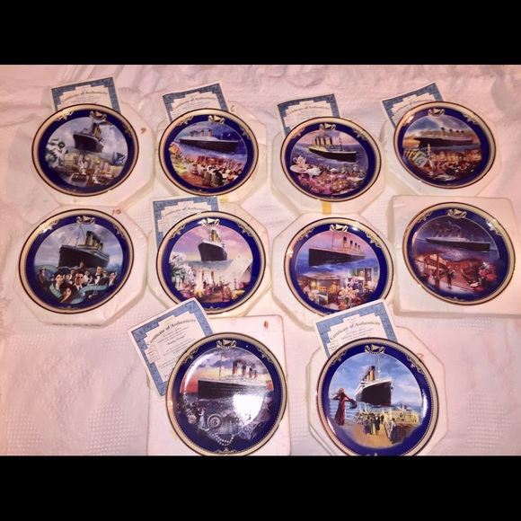 "Bradford Exchange, ""The Titanic"",Set of 10 Plates"